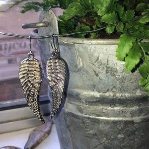 angel wing egirl earrings